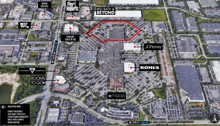 international mall miami map At Miami International Mall Seritage international mall miami map